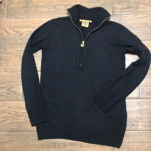 Tory Burch black cashmere and wool sweater